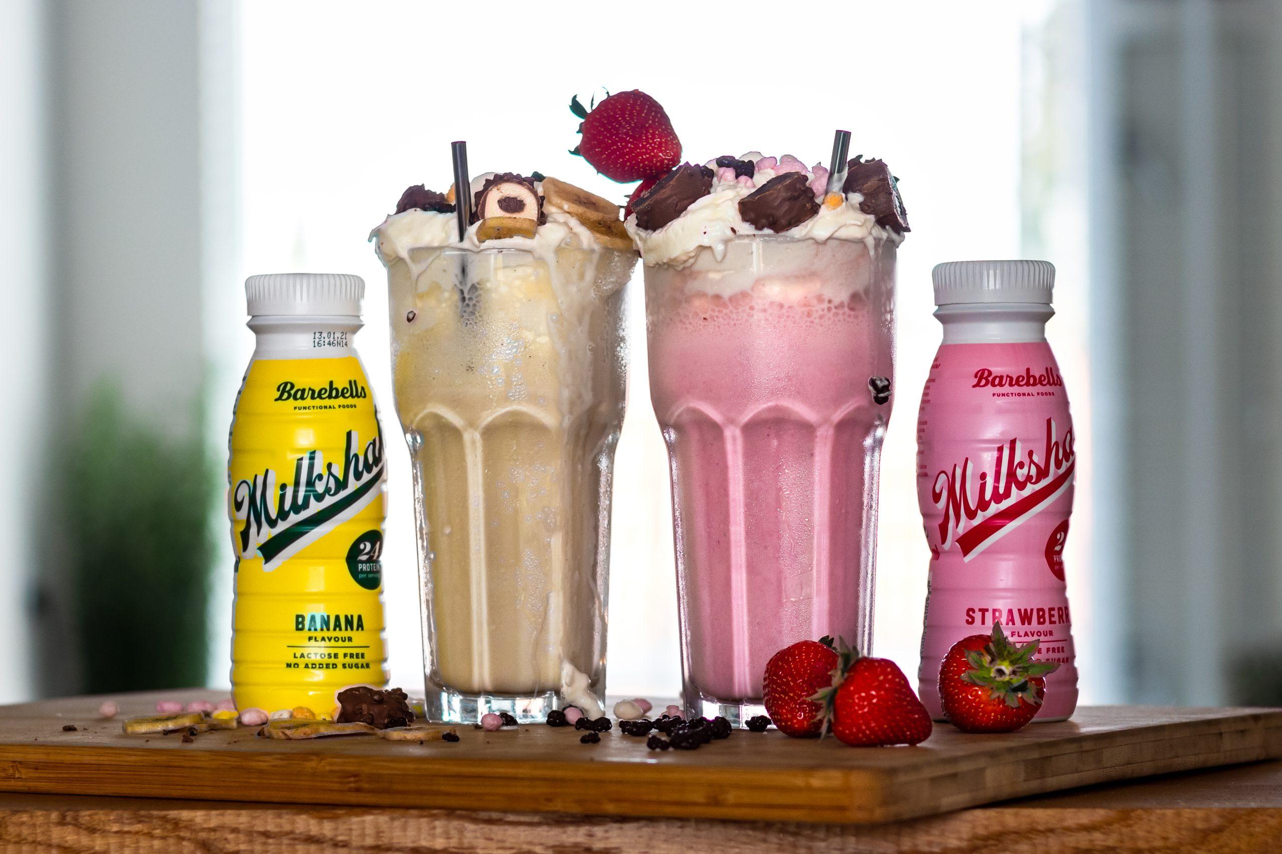 eiwitrijke milkshake gemaakt van Barbells